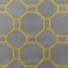 Hong Kong 4338 Rug Grey & Yellow
