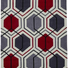 Hong Kong 7526 Rug Cream & Red