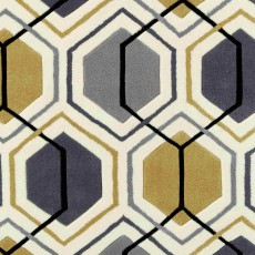 Hong Kong 7526 Rug Grey & Yellow