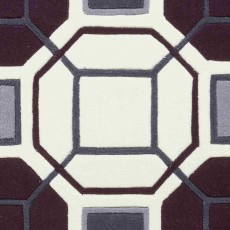 Hong Kong 9238 Rug Ivory & Purple