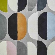 Inaluxe Composition Rug Multi Coloured