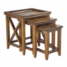 Oxford Mahogany Nest of Tables (3)