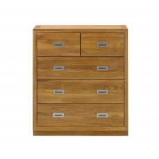 Athens Oak 3 + 2 Chest Of Drawers