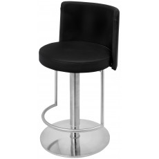 Monza Bar Stool Faux Leather Black