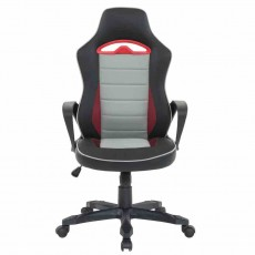 London Gaming Office Chair Black, White & Red