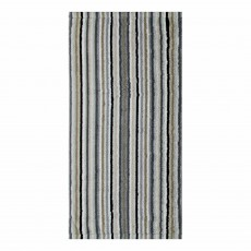 Cawo Lifestyle Stripe Towel Anthracite & Sand