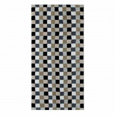 Cawo Lifestyle Cube Towel Anthracite & Sand