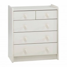 Steens for Kids 3 + 2 Drawer Chest of Drawers White