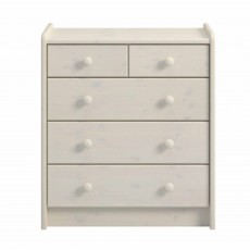 Steens for Kids 3 + 2 Drawer Chest of Drawers Whitewash