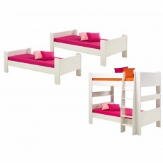 Steens for Kids Two Single Beds to Bunk Bed Extension Kit White