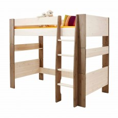 Steens for Kids High Sleeper White & Brown