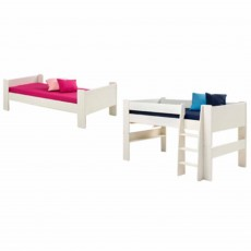 Steens for Kids Single Bed to Mid Sleeper Extension Kit White