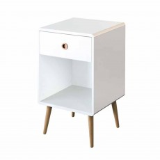 Steens Softline 1 Drawer Bedside Locker White