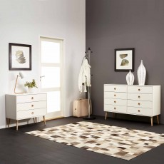 Steens Softline Wide 3 Drawer Chest of Drawers White