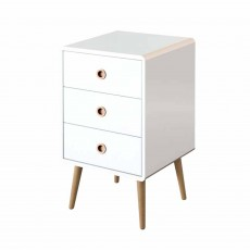 Steens Softline 3 Drawer Bedside Locker White