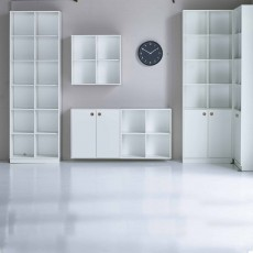 Steens Boxy Low Bookcase White