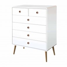 Steens Softline 4 + 2 Drawer Chest of Drawers White