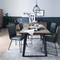 Dale 4-6 Person Dining Table Grey Oak