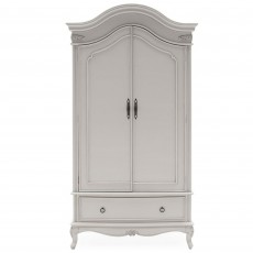 Aisling Double Wardrobe With 1 Drawer Grey