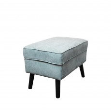 Geronimo Footstool Fabric Teal