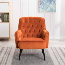 Riley Armchair Fabric Harvest Pumpkin
