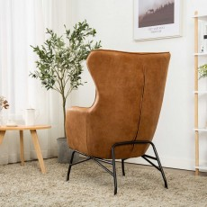 Maguire Armchair Suede Look Tan