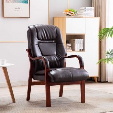 Brogan Orthopaedic Armchair Faux Leather Chocolate