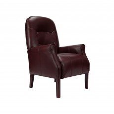 Cliften Armchair Faux Leather Wine