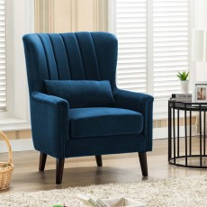 Maura Armchair Fabric Midnight Blue