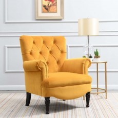 Liza Armchair Fabric Apricot Yellow