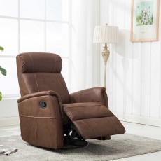 Maurice Manual Recliner Armchair Fabric Mocha