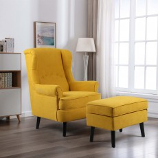 Geronimo Armchair Fabric Yellow