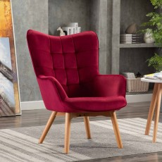 Mayla Armchair Fabric Crimson