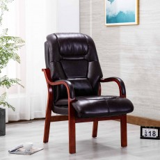Brogan Orthopaedic Armchair Faux Leather Burgundy