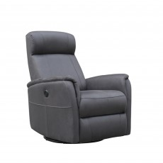 Maurice Manual Recliner Armchair Fabric Slate