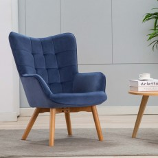 Mayla Armchair Fabric Skipper Blue