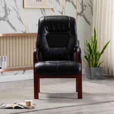 Brogan Orthopaedic Armchair Faux Leather Black
