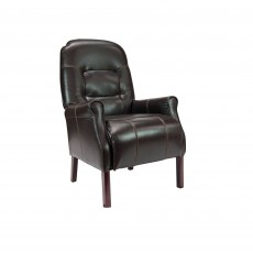 Cliften Armchair Faux Leather Chocolate