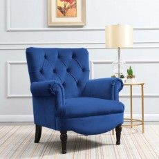 Liza Armchair Fabric Royal Blue