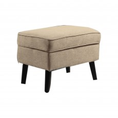 Geronimo Footstool Fabric Beige