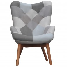 Hawthorn Armchair Fabric Blue Patchwork