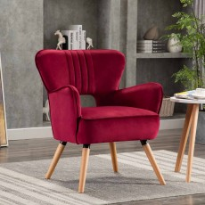 Brody Armchair Fabric Crimson