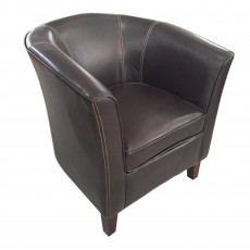 Shirley Tub Chair Faux Leather Grey