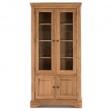 Brid Oak 2 Door Glass Display Unit