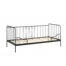 Vipack Alice Captain Single (90cm) Bedstead Black