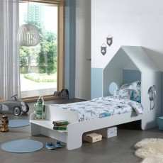 Vipack Casami House Shaped Single (90cm) Bedstead White