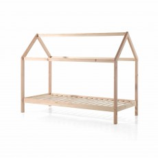 Vipack Dallas House Shaped Single (90cm) Bedstead Natural