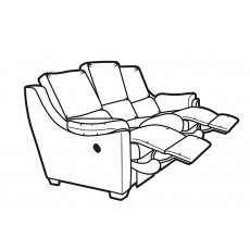 Parker Knoll Albany 3 Seater Manual Reclining Sofa Fabric B