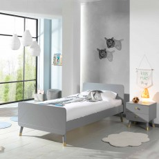 Vipack Billy Single (90cm) Bedstead Timeless Grey