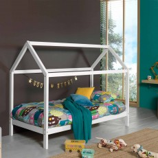 Vipack Dallas House Shaped Single (90cm) Bedstead White
